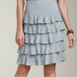 Talbots Silk Tiered Ruffled Skirt! Dry Cleaned!